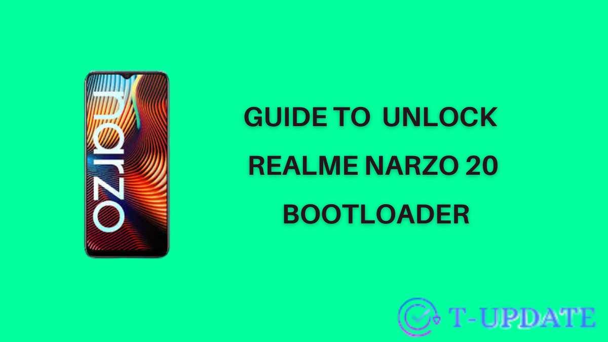 Guide to unlock realme narzo 20 bootloader
