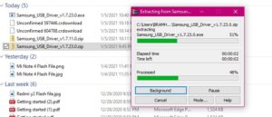 Extract Samsung USB Driver File from Zip