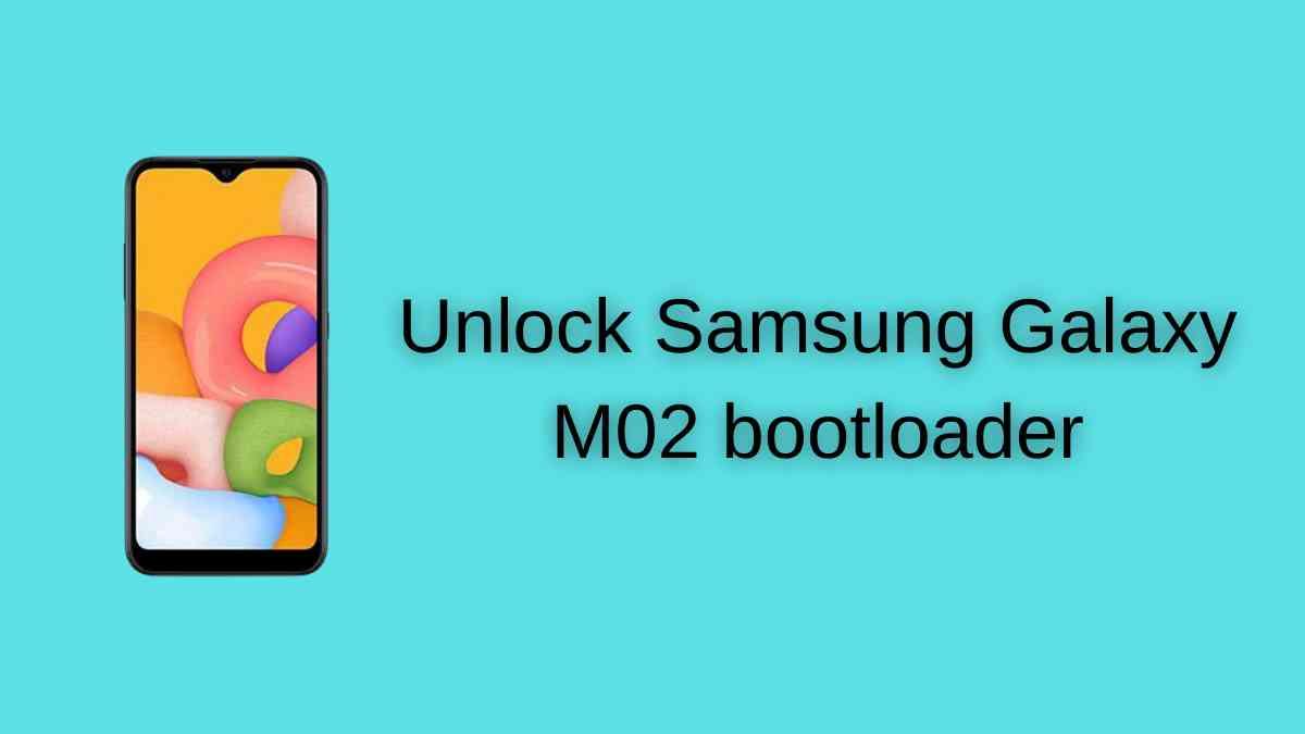 Unlock Samsung Galaxy M02 bootloader