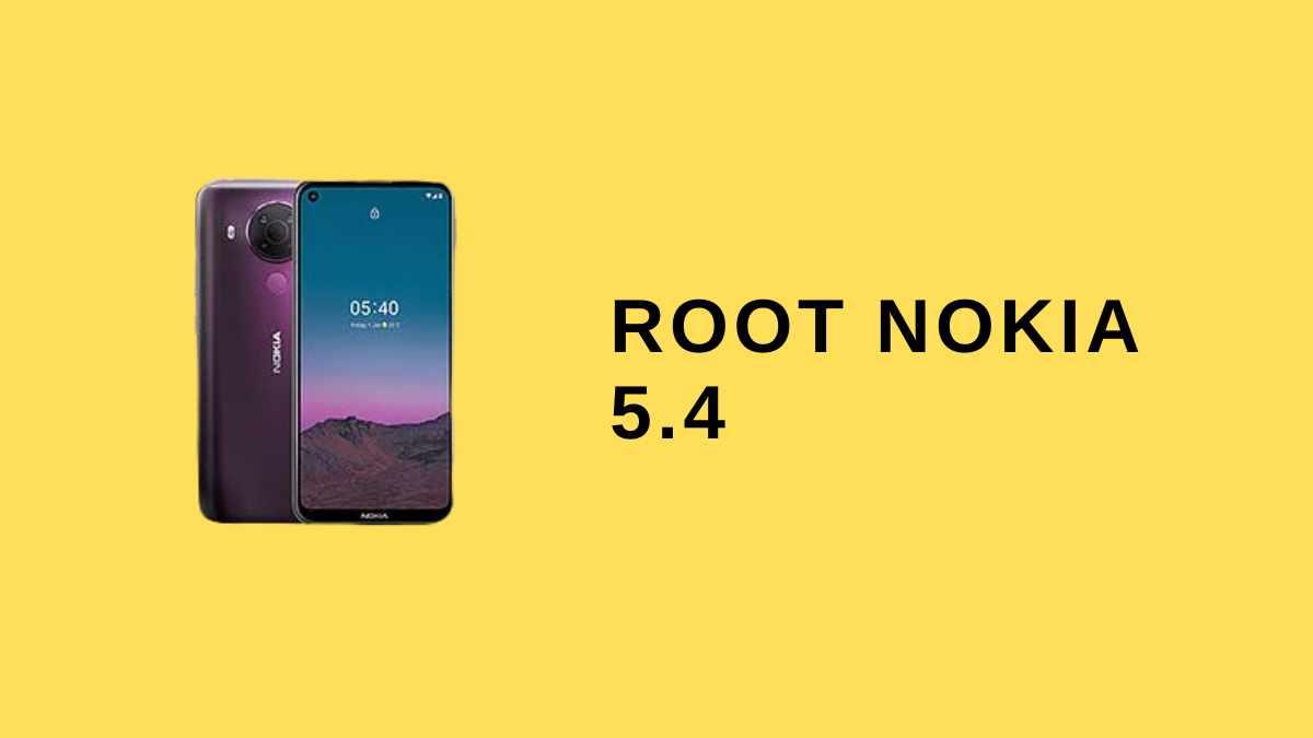 Root Nokia 5.4
